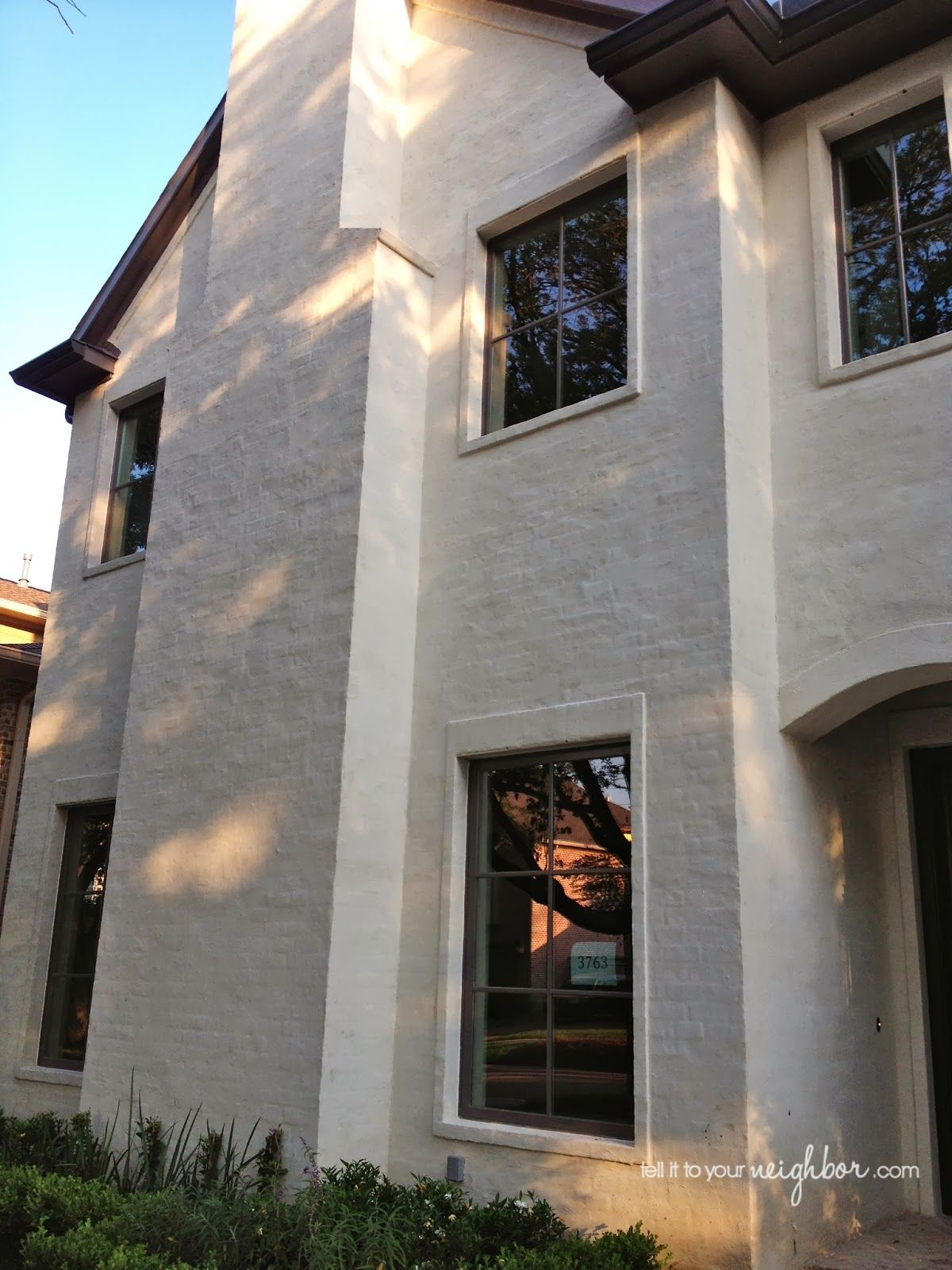 Slurried Brick Mortar Washed Sacked Brick Painted