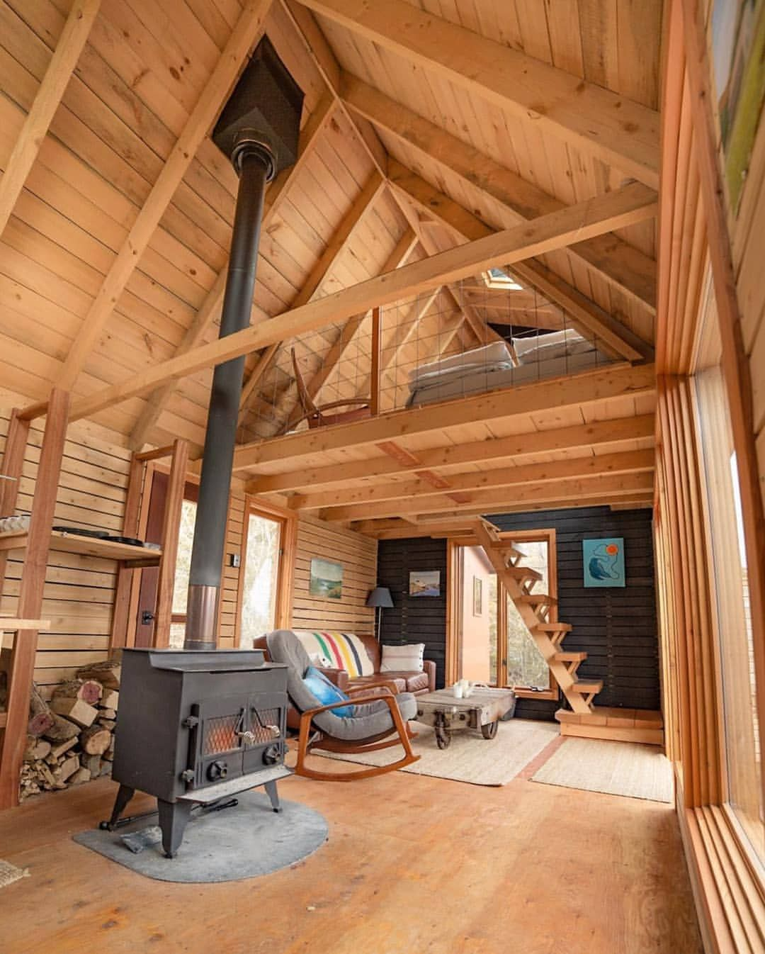 Loft Y Goals Ontario Dirtandglass Ravenhouse Getawaycabin Thecabinchronicles Tiny House Cabin Tiny House Remodel Tiny House Interior