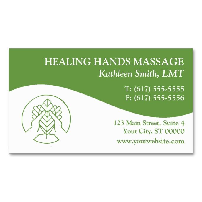 Massage therapy business cards make your own business card with massage therapy business cards make your own business card with this great design all fbccfo Image collections