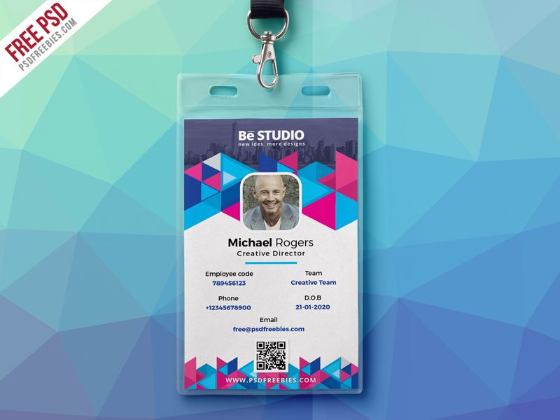Abstract Office ID Card Free PSD | Pinterest | Free