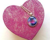 Beautiful Beyoutiful necklace and pink glitter heart shaped jewelry box gift set