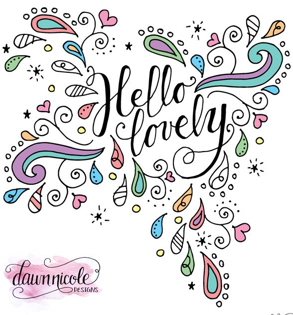 Hello Lovely Doodles Coloring Page Doodles, Adult coloring and - best of fun coloring pages for fall