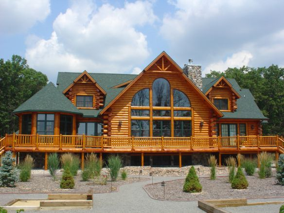 Photos Of Log Homes With Turrets Yahoo Image Search Results Log Cabin Home Kits Log Home Plans Log Home Designs