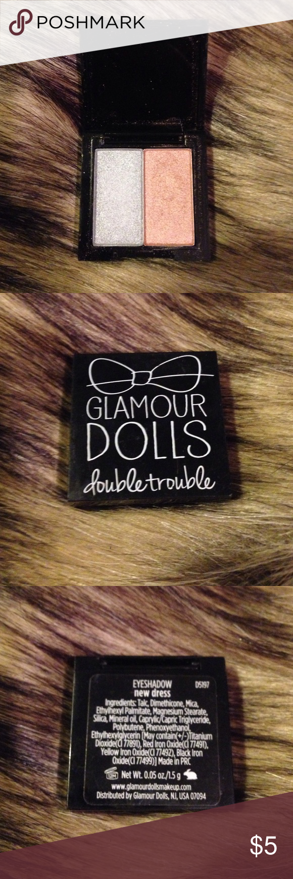 Glamour dolls double trouble eyeshadow! Two tacos.  Two cats.  Two glasses of wine. Two is obviously better than one. This Glamour dolls double trouble eyeshadow in new dress is the perfect combination to any amazing look! 😏 Makeup Eyeshadow