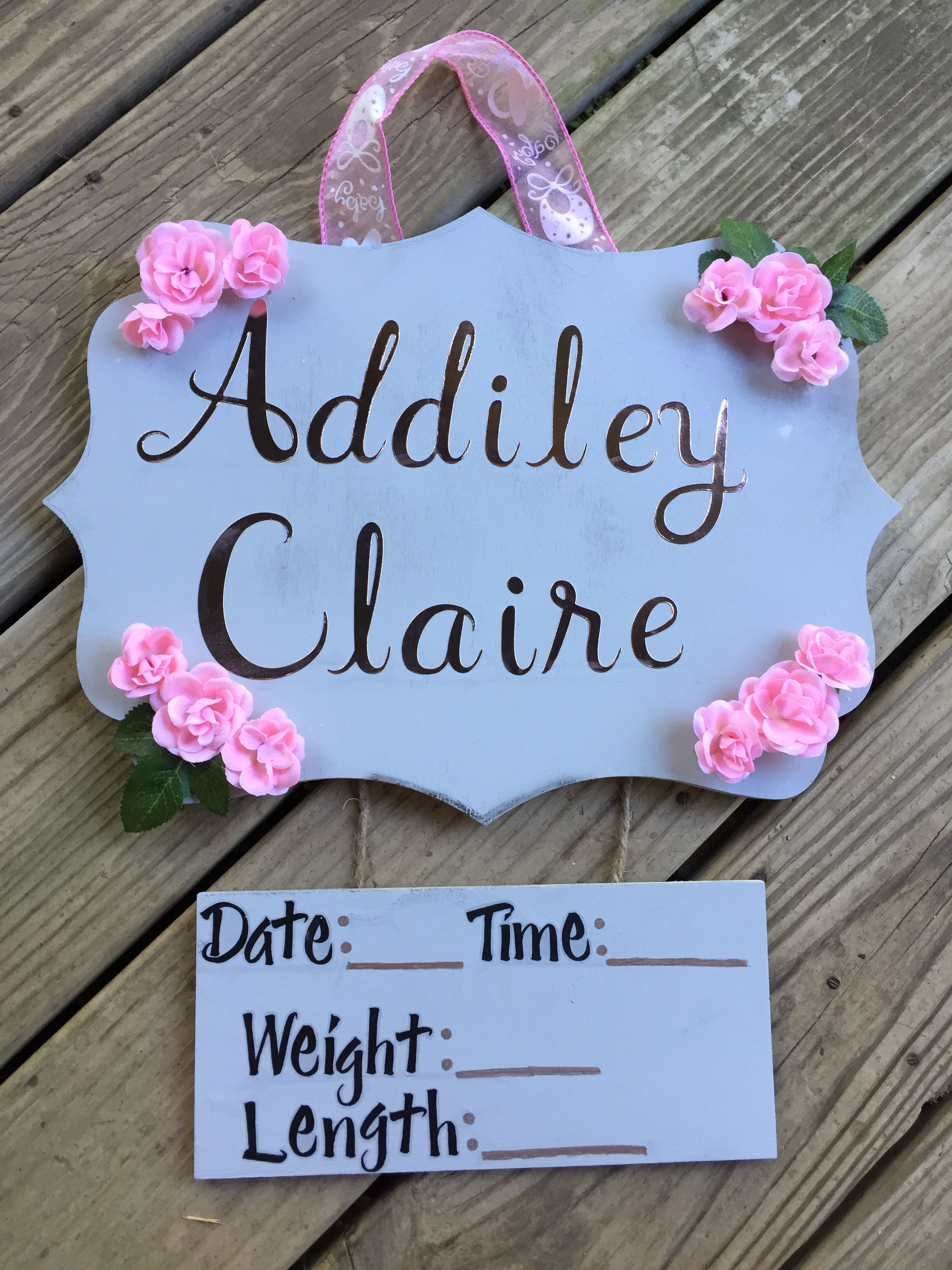 Baby Girl Hospital Sign Everything From Hobby Lobby Baby Signs Baby Girl Sign Baby Girl Names