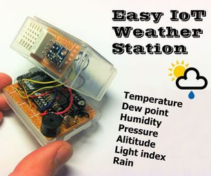 Easy IoT Weather Station With Multiple Sensors | Arduino and Tech