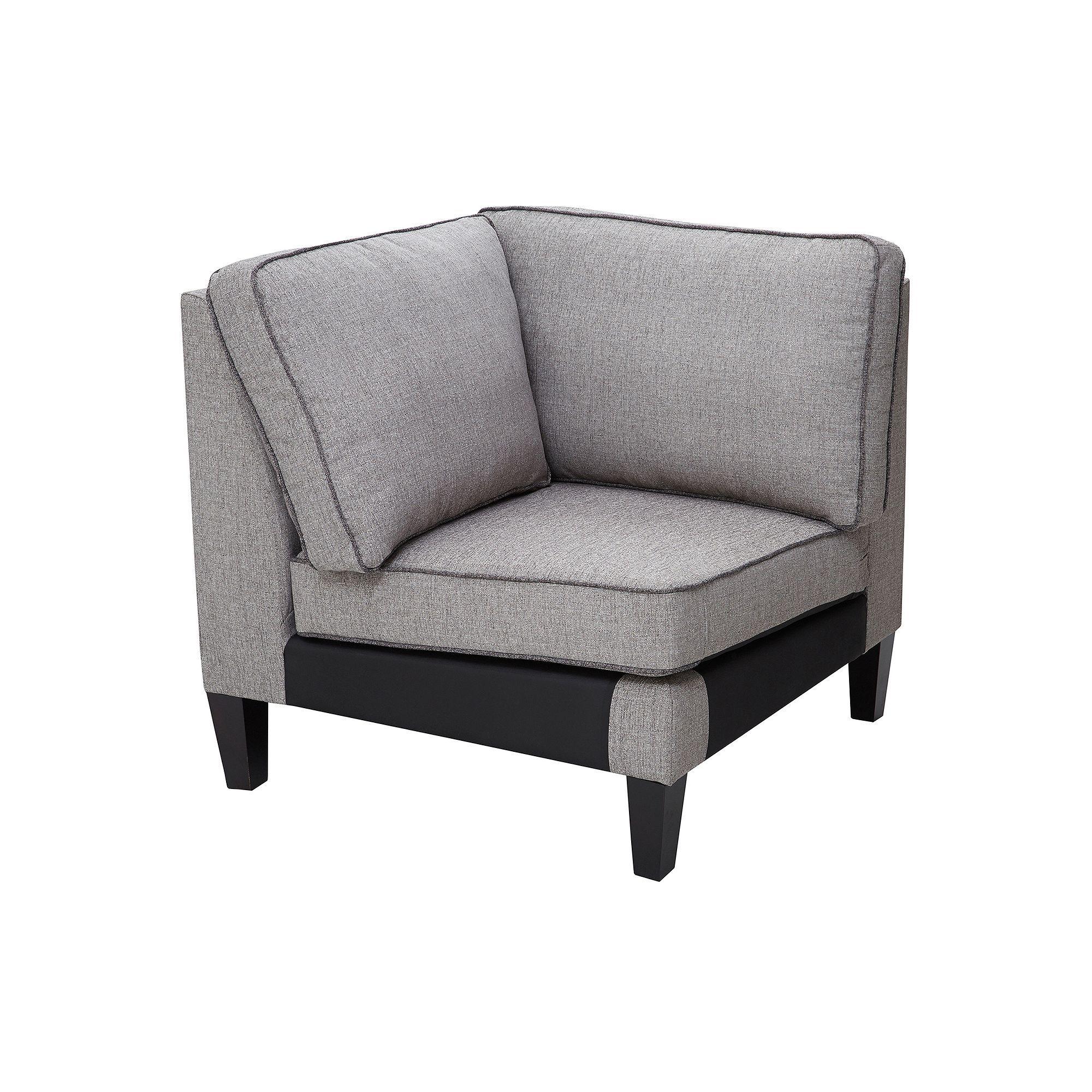 Madison park signature gordon modular corner sofa grey durable