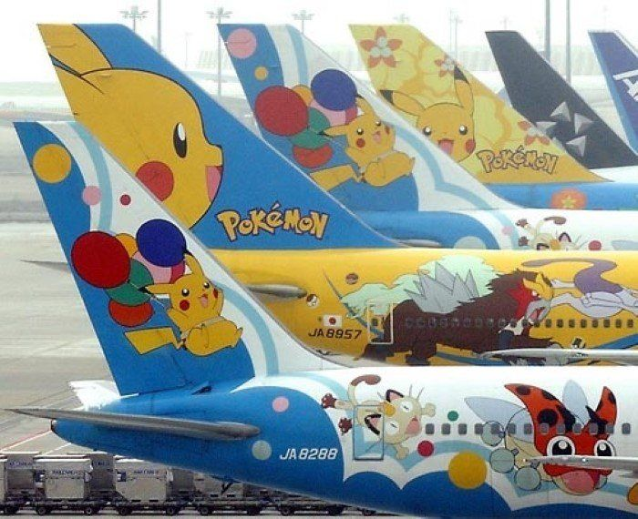 All Nippon Airway Pokemon Fleet that was in service from 1998-2016 -