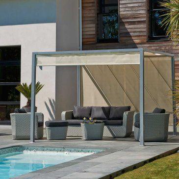 PERGOLA design tonnelle aluminium brise soleil 3x3m. Tonnelle de ...