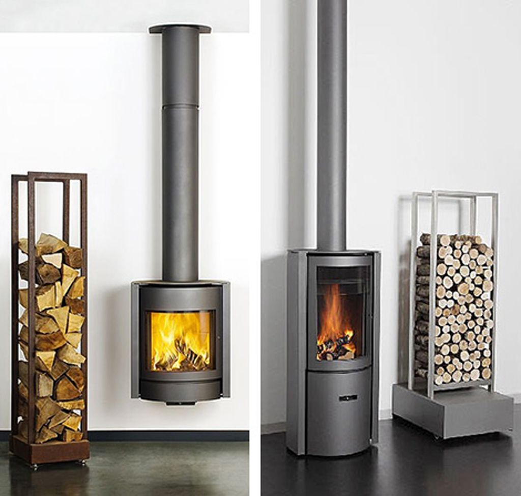 Modern Futuristic Wood Burning Stove Designs From Stuv