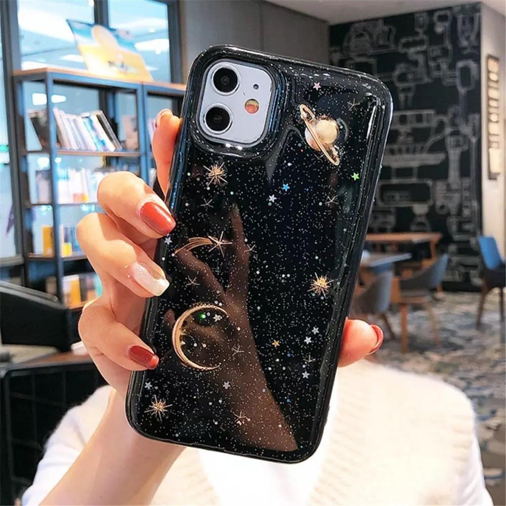 3D Planet Space iPhone Case - iPhone 11 Pro Max / Black