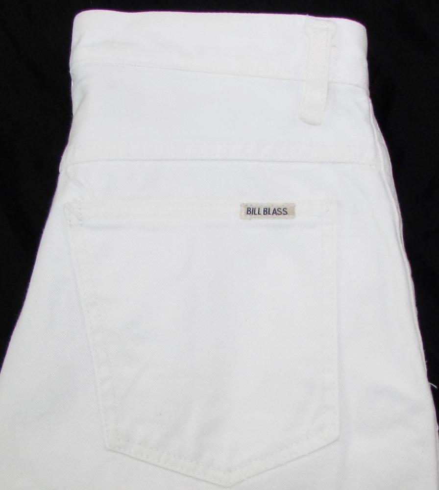 Women Bill Blass White Jeans Tapered Leg Pleated Front 100% Cotton sz 10P X 28 #BillBlass #TaperedStraightLeg