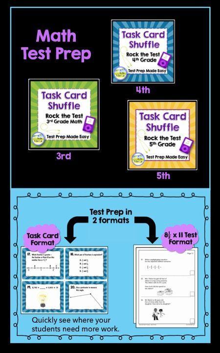 Test Prep Task Cards - 4th Grade Math | Math test, Math and ...