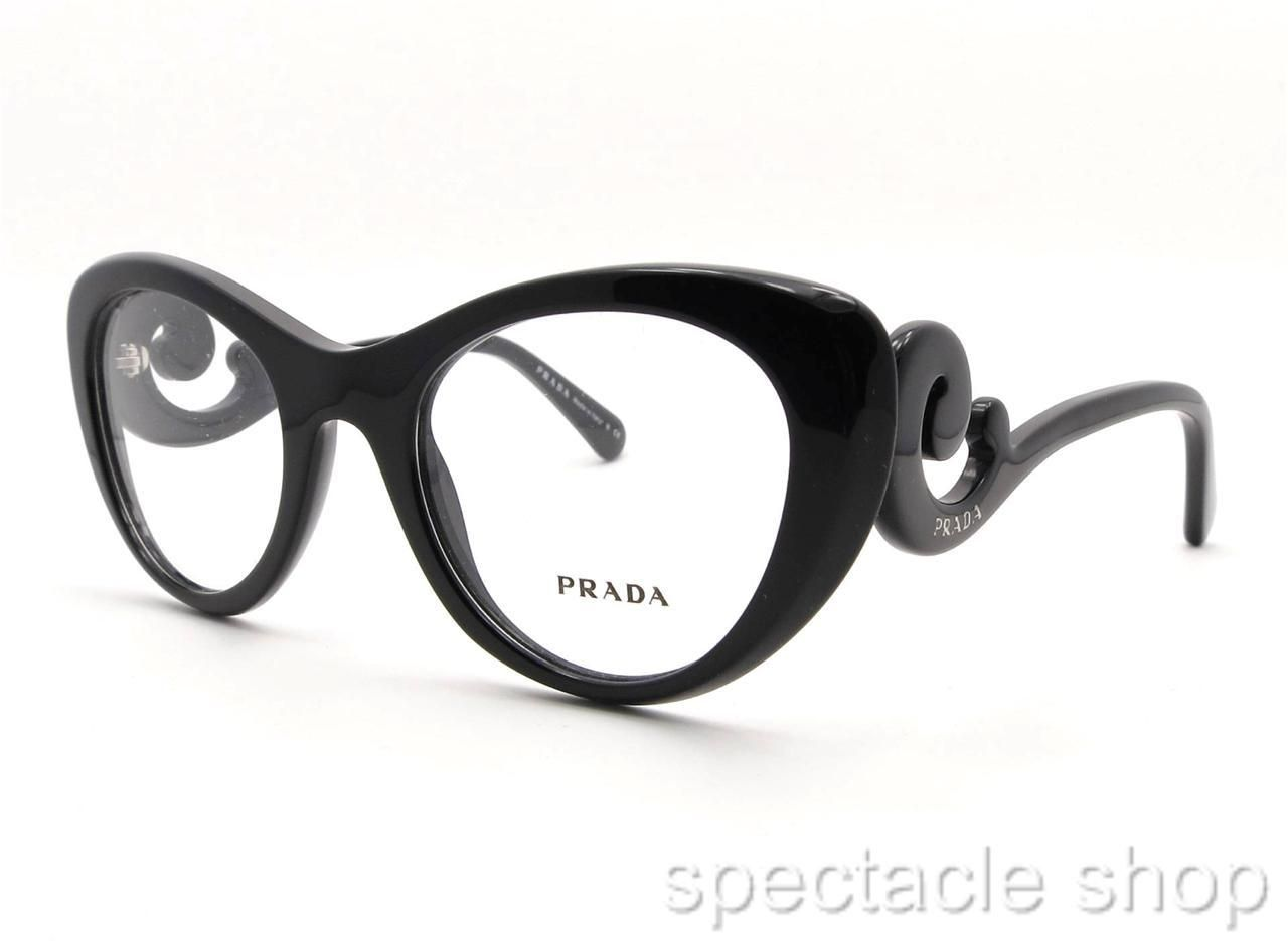 3617550cf4 Prada VPR 06Q 1AB 1O1 Black New 100 Authentic Frames Made in Italy ...