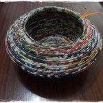 Brutal este pote feito em papel reciclado. Vê mais em http://www.artescirnetrigo.com/pote-largo/