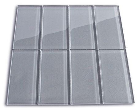 Ice Gray Glass Subway Tile Subway tiles, Basement bathroom and