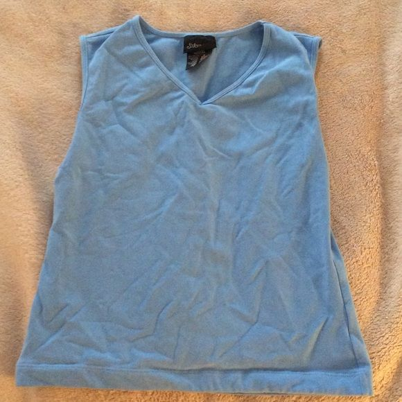 St John's Bay Blue Athletic Tank Top 90% cotton 10% Lycra spandex St. John's Bay Tops Tank Tops