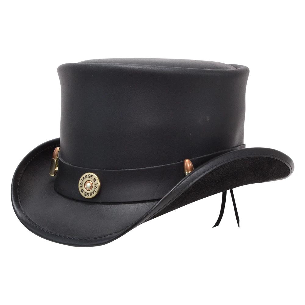 El Dorado Top Hat Bullet Band In 2021 Leather Top Hat Black Leather Hat Hats For Men