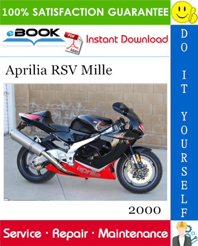 2000 Aprilia Rsv Mille Motorcycle Service Repair Manual In 2020 Repair Manuals Aprilia Repair