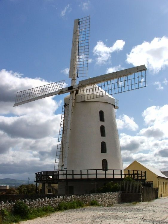 Blennerville Windmill In County Kerry Ireland Featured In The