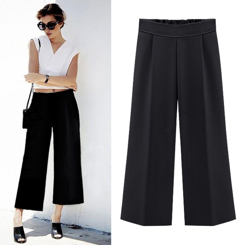 c74e1e632785 Шифон свободные штаны женские повседневные свободные высота талии ...