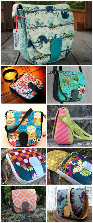 Sandra Saddle Bag pattern and video | Taschen nähen, Nähen und Nähideen