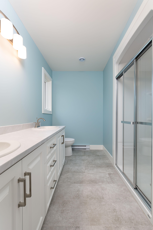 Nice custom shower in this recently finished Denver design ...