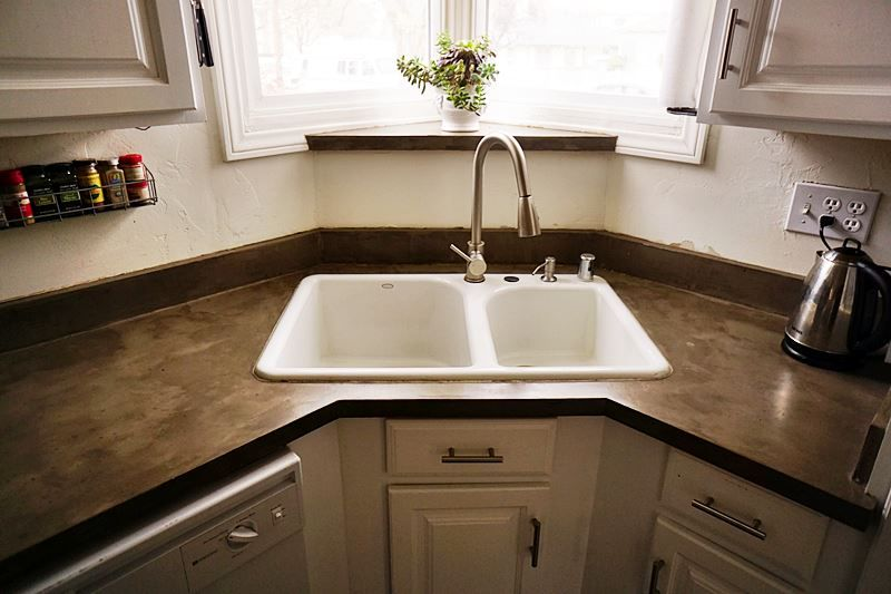 Feather Finish Concrete Countertops: Three Years Later ...
