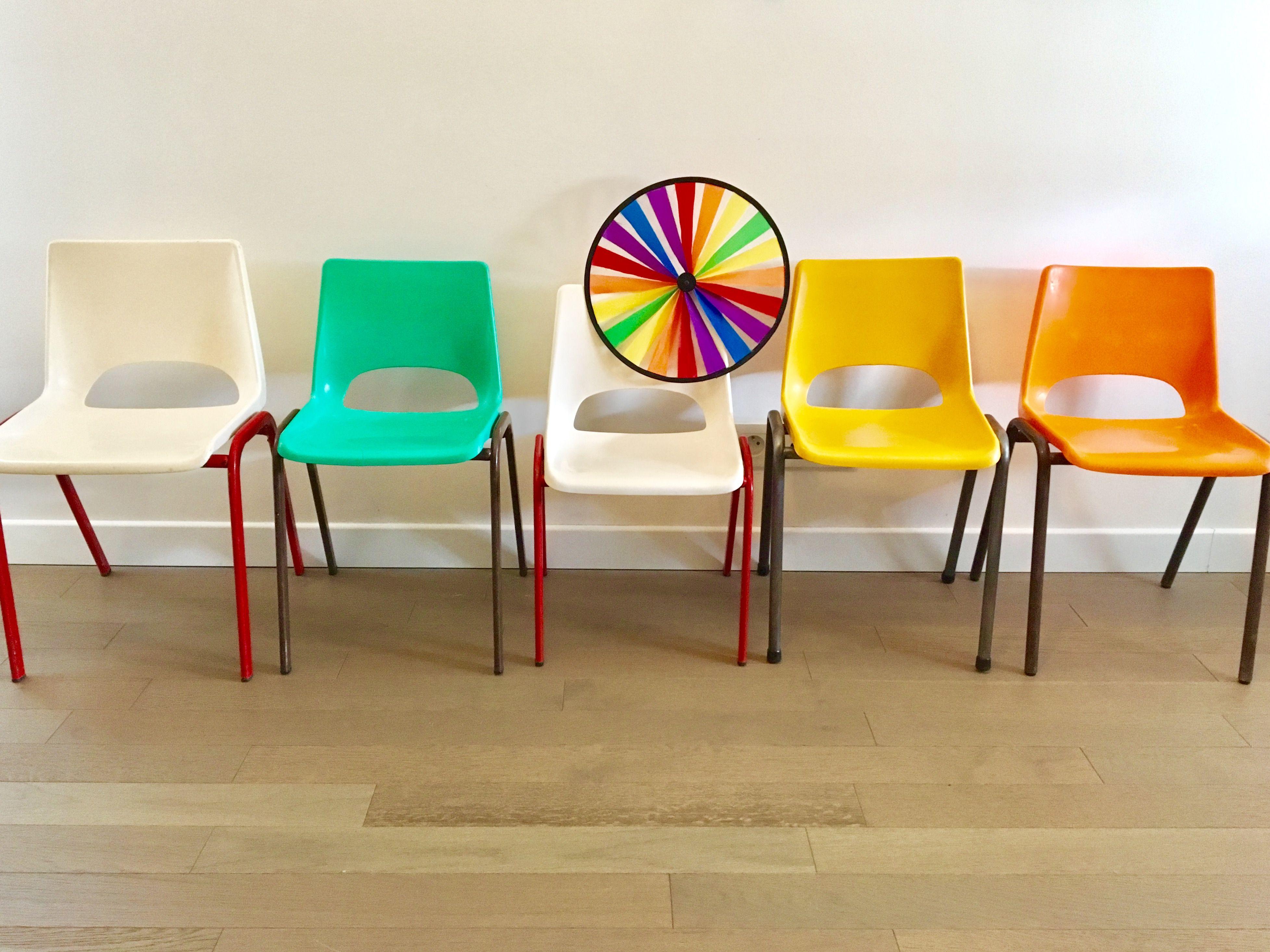 Chaises Maternelle Enfant Annees 60 70 Plastique Moule Chaise Vintage Chaise Vintage