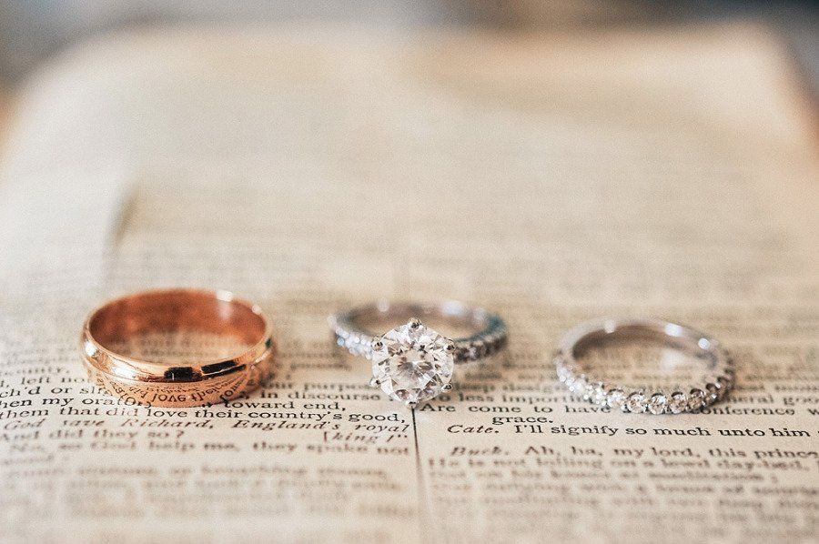 Tip Consider Placing Your Rings On A Meaningful Page From A Book Of