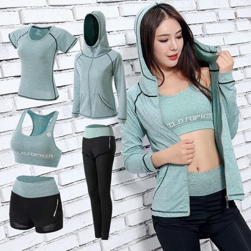 5 Piece Workout Set in 2020 Womens workout outfits