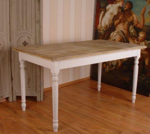 Riesiger-Holztisch-Esstisch-Vintage-Shabby-Villa-Rustica-Landhaus