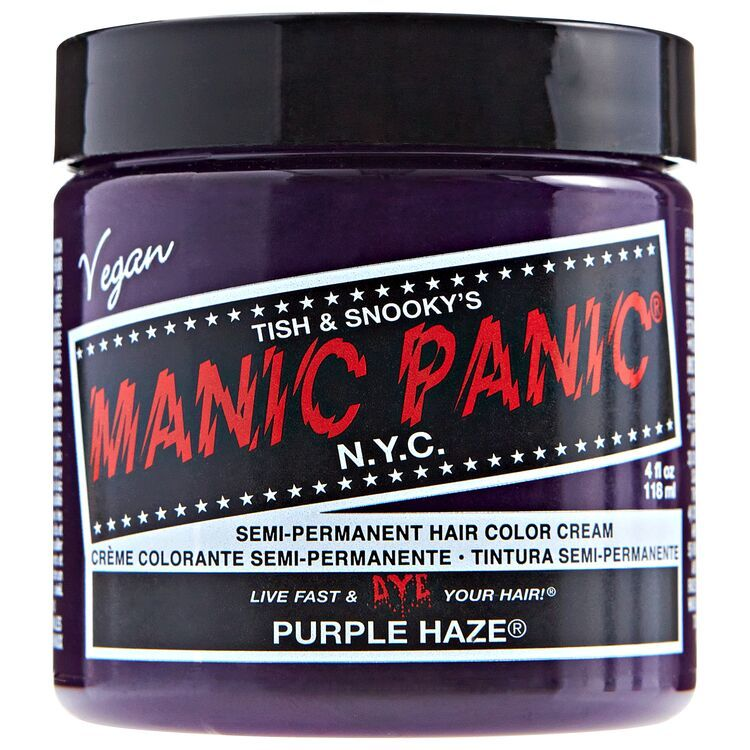 Purple Haze Manic Panic Semi Permanent Hair Color In 2020 Permanent Hair Color Manic Panic Hair Color Semi Permanent Hair Color
