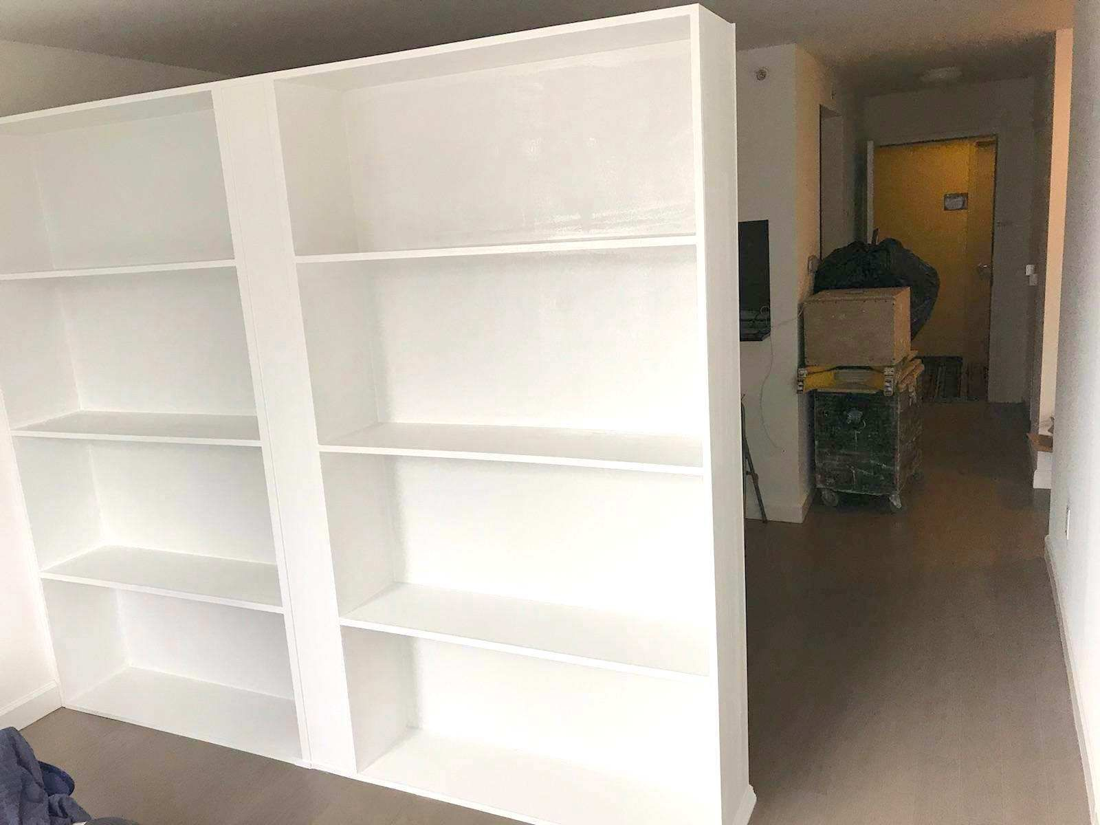 Freestanding Bookcase Partition Call Us For All Your Custom Room Partition And Storage Wall Inquiries 64 Freestanding Room Divider Closet Remodel Walls Room
