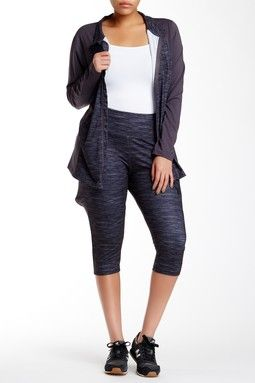 13a11b1d9aa22b Space Dye Capri Legging (Plus Size)