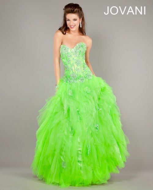 lime green prom dress 2013 by Jovani #prom2013 #promdresses ...