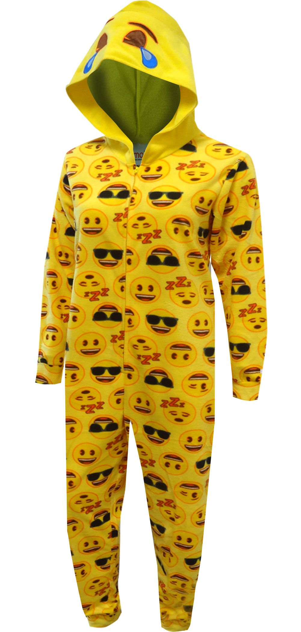 6ba87ba57995 LOL Emoji Hooded One Piece Pajama