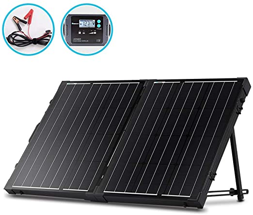 Amazon Com Renogy 100w 12v Protable Foldable Monocrystalline Solar Panel Folding Solar Charger With 1 In 2020 Solar Panel Charger Portable Solar Panels Solar Panels