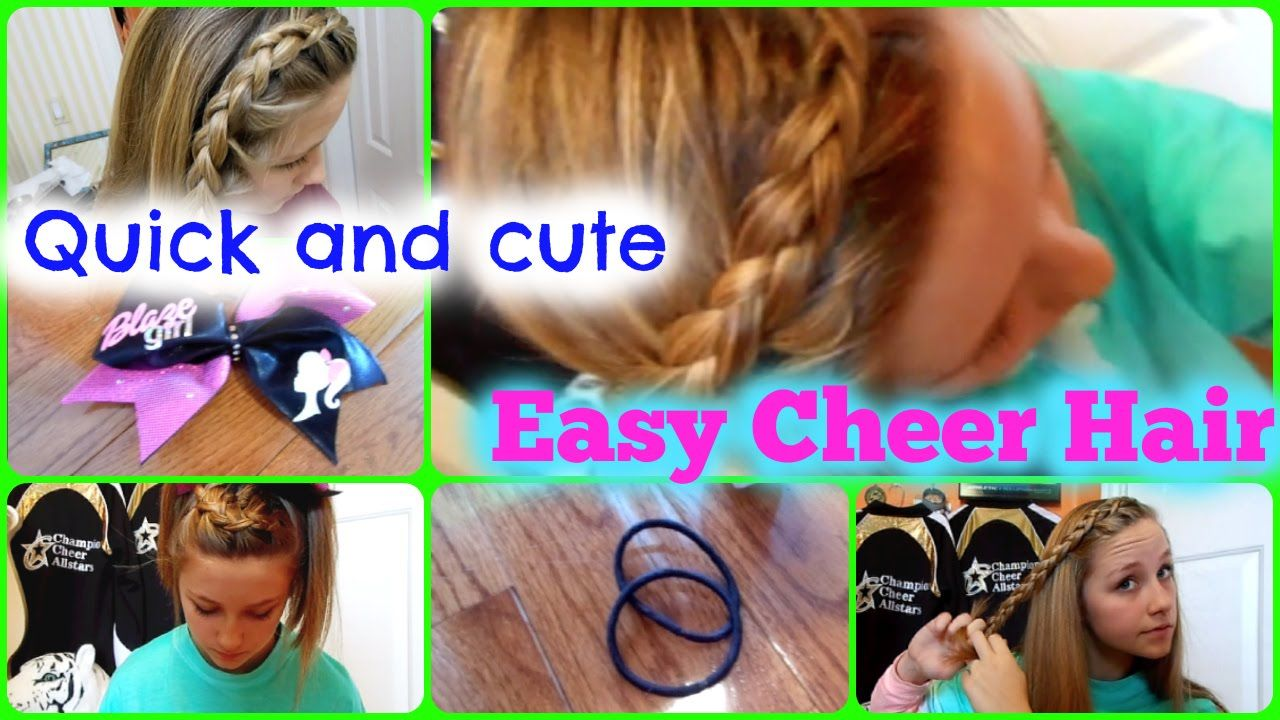 Quick And Easy Cheer Practice Hairstyles Cute Cheer Hairstyles Cheer Hair Easy Cheers