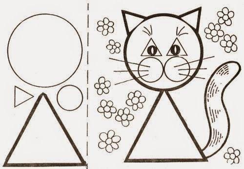 Atividade Educacao Infantil Formas Geometricas Colorir Animais 11