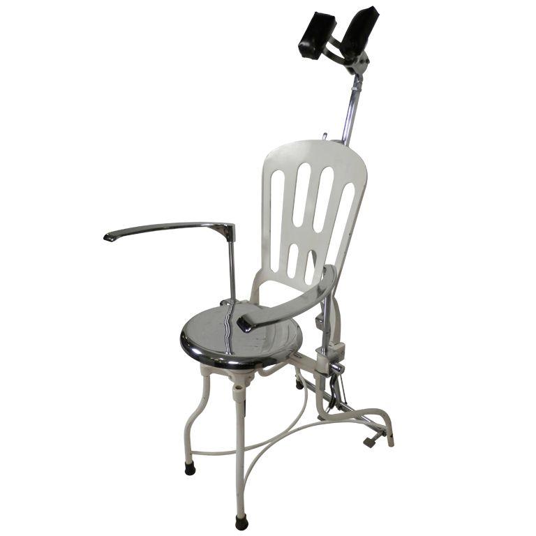 Horseman Antiques Inc. / Antique Metal Dental Chair - Horseman Antiques Inc. / Antique Metal Dental Chair 110: Hunter