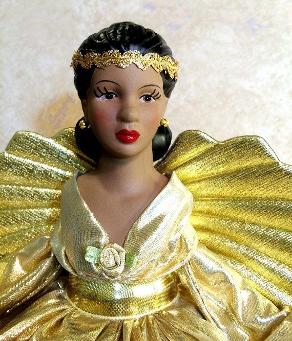 Christmas Angel Tree Topper African American by DivineAngelShop ...