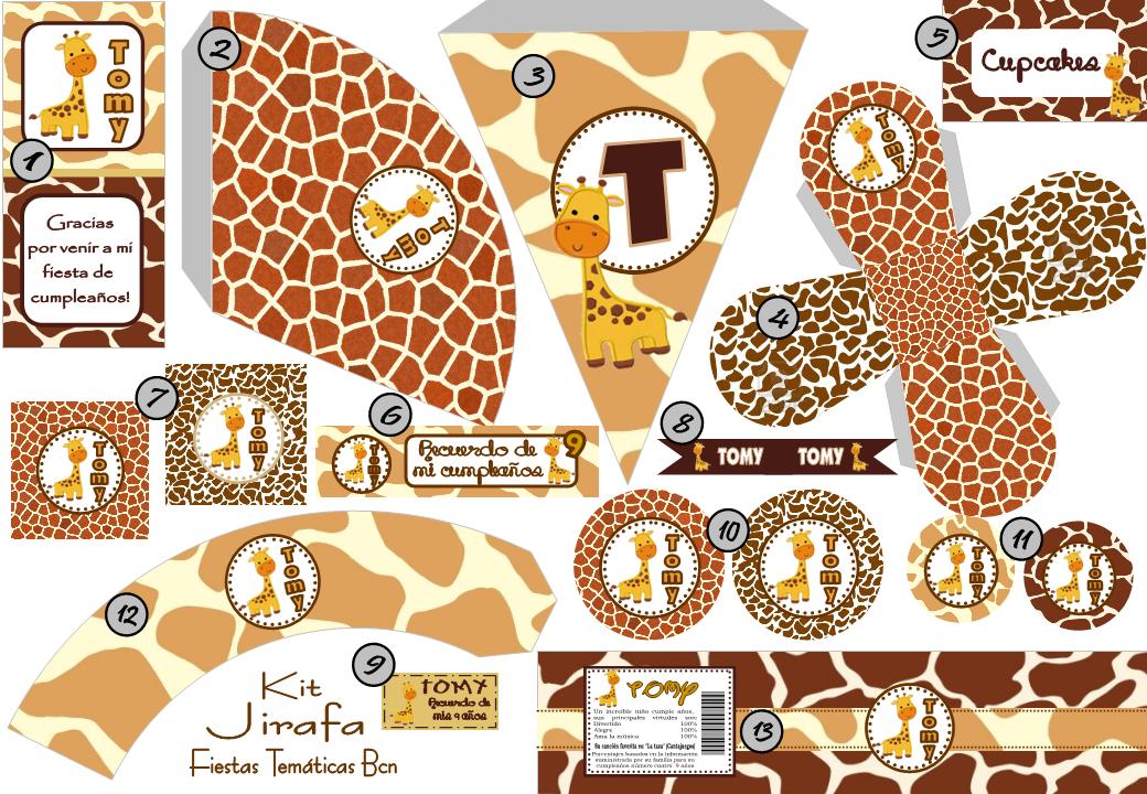 Fiestas tem ticas bcn kit imprimible jirafa parties for Fiestas tematicas bcn