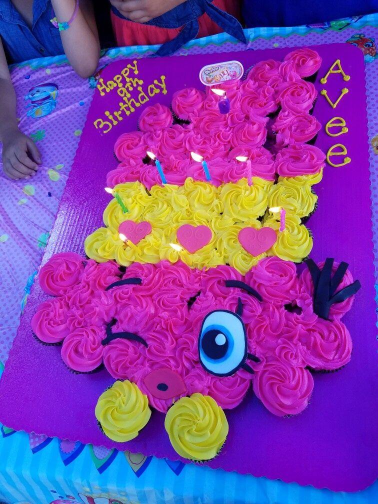 Lippy Lips Shopkins Pull Apart Cupcake Cake