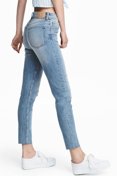 Slim Mom High Ankle Jeans Light Denim Blue Ladies H M Gb Light Denim Ankle Jeans Jeans Models