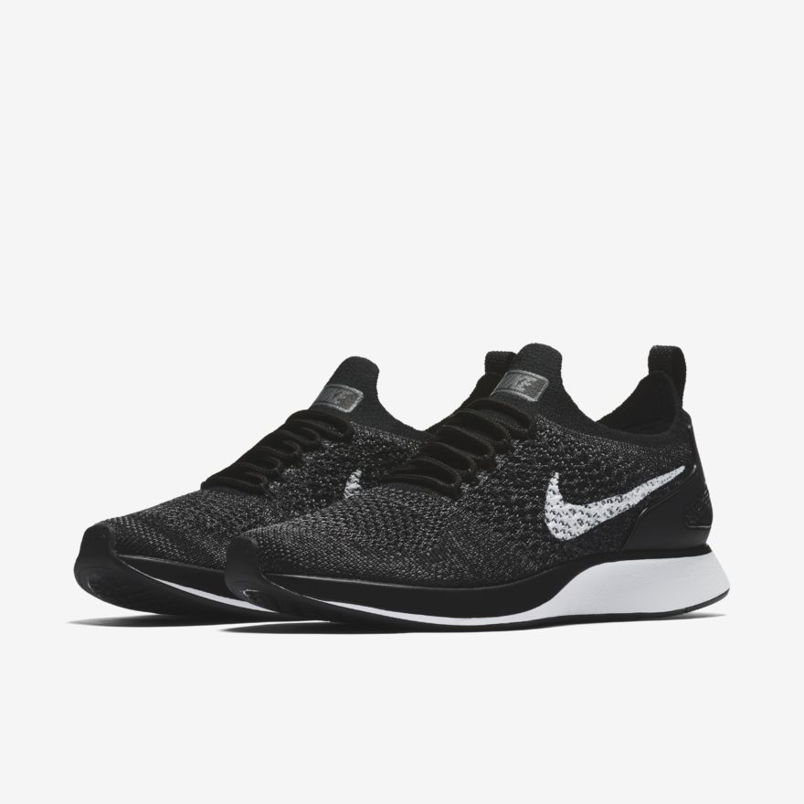 a5d89eda388a Nike Air Zoom Mariah Flyknit Racer Womens Running Shoes Black White Dark  Grey  Nike  RunningShoes