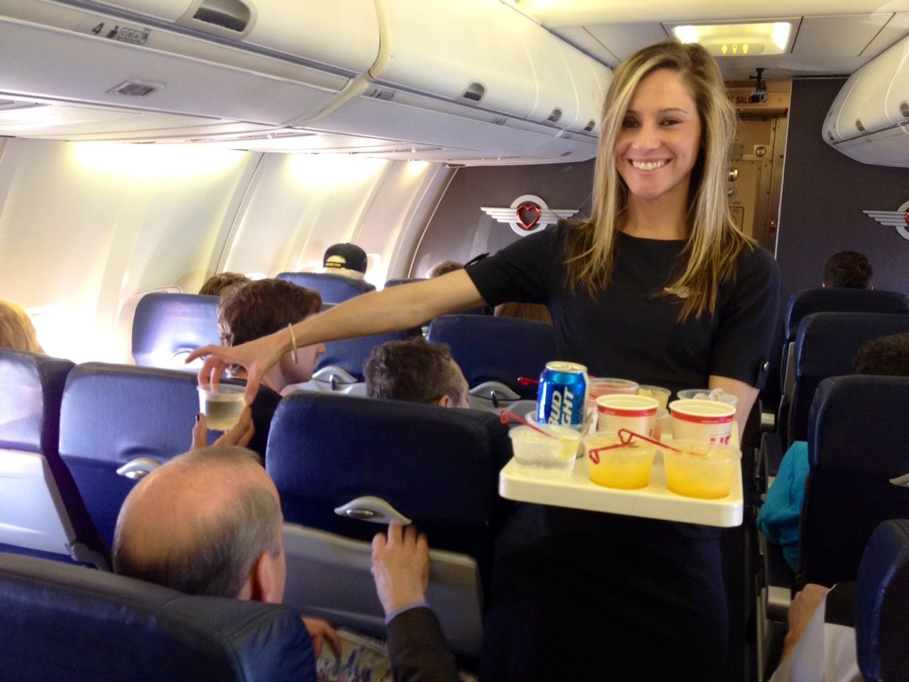 Nothing says #NonstopLove more than drinks on the house on Southwest Airlines as we #SPREADTHELUCK