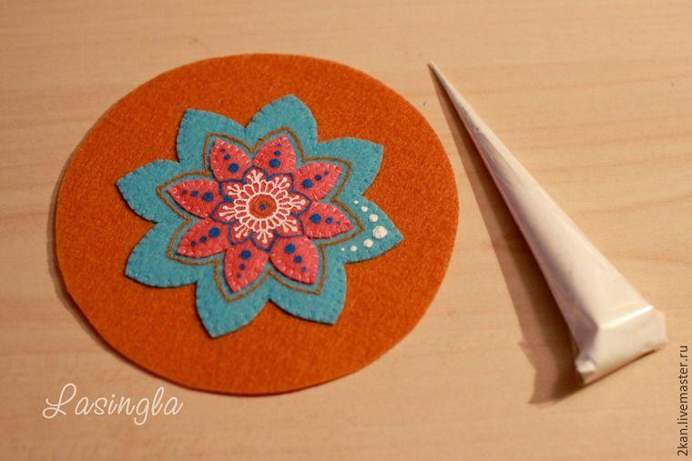 Создаем яркую мандалу из фетра - Ярмарка Мастеров - ручная работа, handmade