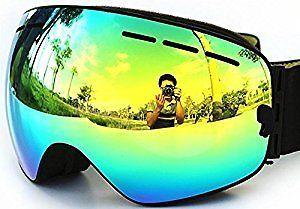 a6c86b5a33 COPOZZ Ski Goggles   Snowbord Goggles with Dual-layer Anti-fog Anti-uv Lens  Detachable Different VLT Avaliable for Men Women (03Black VLT 16.3%)   …
