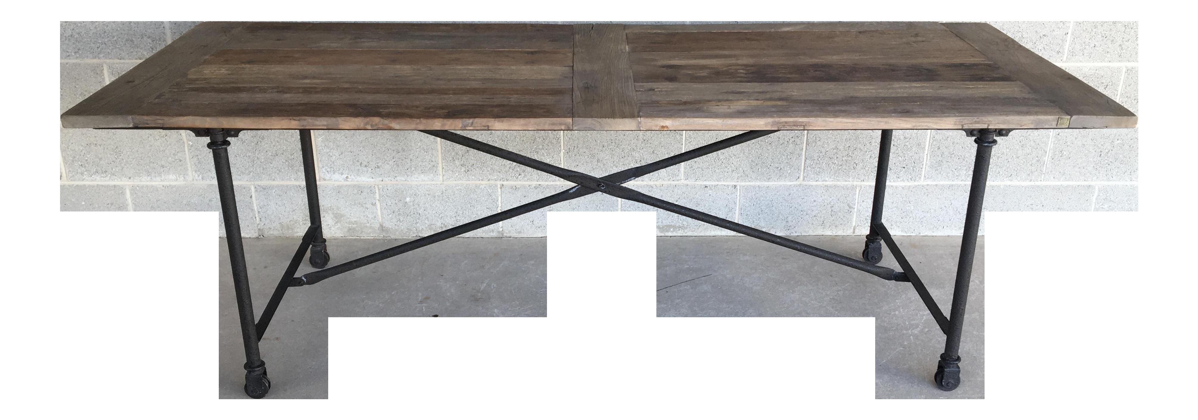 Restoration Hardware Flatiron Rectangular Elm Wood 92 Dining